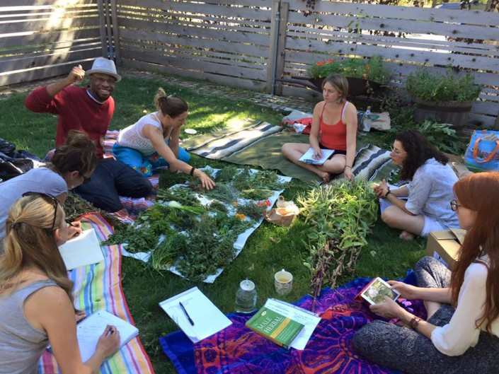 Shelley Torgove community herb class