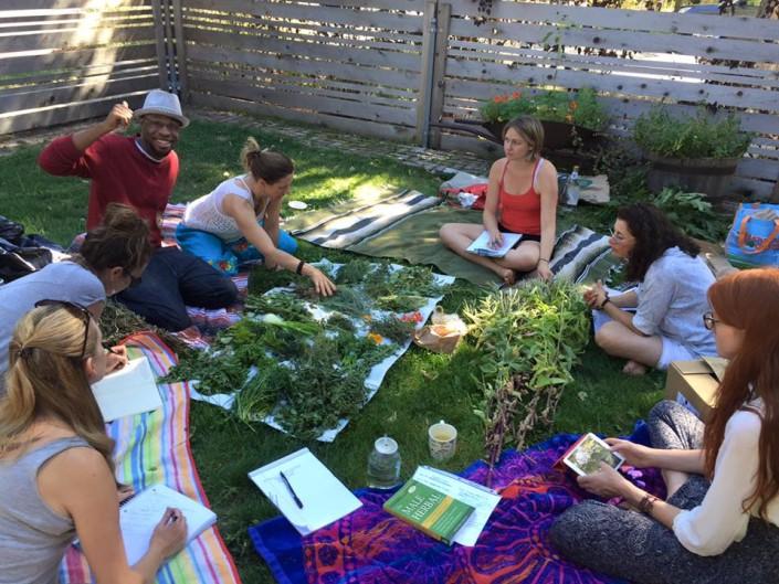 Shelley Torgove community herb class